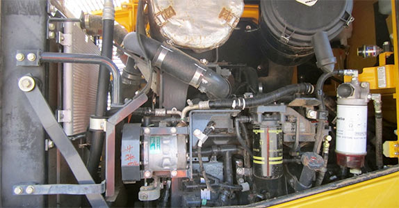 Hydraulic system and engine